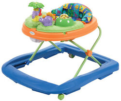 Safety 1st Dino Sounds 'n Lights Discovery Baby Walker With Activity Tray, Dino