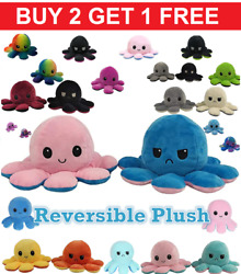 Reversible Flip Octopus Plush Stuffed Soft Toy Animal Home Accessories Baby Gift