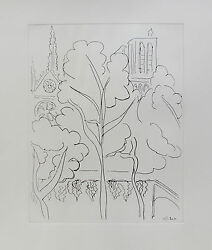 Henri Matisse Notre Dame Restrike Etching Art Signed In The Plate 21