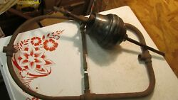 Antique Japanned Brass Gravity Lamp Parts- Industrial