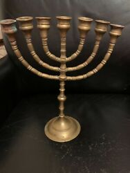 Vintage Menorah 7 Branch Candle Holder From An Estate Removable Parts See Pics
