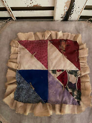 Primitive Watermelon Fall Cowboy Quilt Star Fabric Grungy Candle Mat Decoration