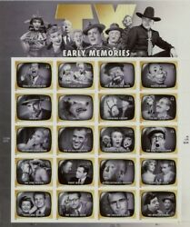 Scott #4414 – 2009 44c Early Tv Memories - Sheet Of 20 Stamps