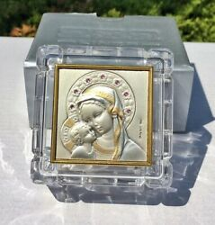 Rosary Box Religious Jewelry Box Madonna And Child Mother Mary Holy Trinket