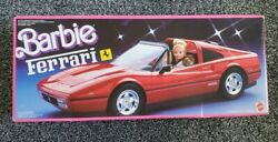Vintage 1987 Mattel Barbie Red Ferrari Convertible Car  * Sealed* New In Box*