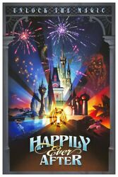 Happily Ever After Fireworks Wdw - Collector Poster  (b2g1 Free!!)