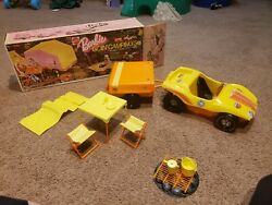 Vintage 1973 Mattel Barbie Goin' Camping Set No 8669 Buggy & Trailer See Pics!!!