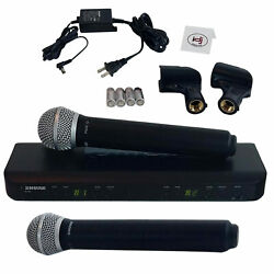 Shure Blx288/pg58 Dual Handheld Wireless Vocal Dj Microphone System