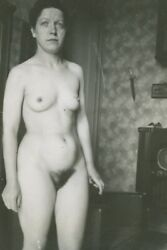 Vintage 1930's Art Photography Nude French Woman 4x6 Photo Pin Up 51239848328
