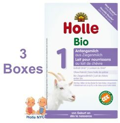 Holle Goat Milk Stage 1 Organic Formula With Dha 3 Boxes 400g Free Shipping