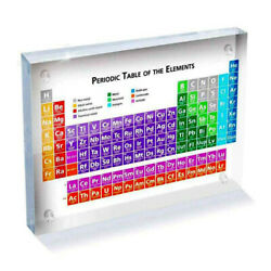 Colorful Acrylic Periodic Table Display With Real Elements Teaching Chemical