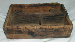 Primitive Antique! Farmhouse Barn Dovetailed Xl Wood Box Holder Caddy Tray Cubby