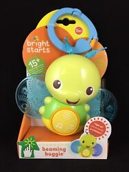 Bright Starts Beaming Buggie Take-along Baby Toy Lights Music Sounds