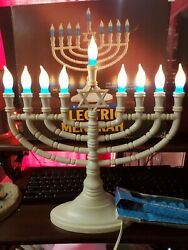 Deluxe Star Bright Electric Menorah Chanukah In Box With New Lightbulbs