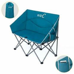 Camping Loveseat Dual Person Conversation Chair Camping Lounge Outdoor Bench