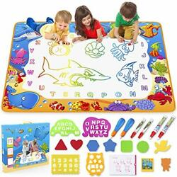 Water Doodle Mat - Kids Painting Writing Doodle Toy Mat - Color Multicolor
