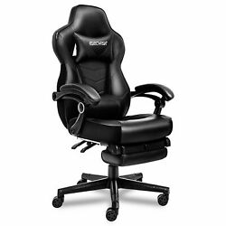 Massage Gaming Racing Chair Computer Office Desk Seat Swivel Recliner Footrest
