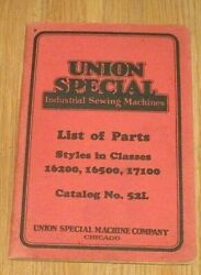 1929 Vintage Union Special Industrial  Sewing Machine Parts Catalog