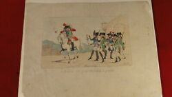 Great 1700s Political Satire Cartoon Print The Paper Soldier - Hand Tinted Color