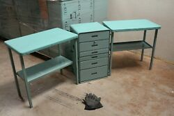 Outdoors Drawer Stand And Two Tables Converts To Chest 30x18x19  Aluminum Used