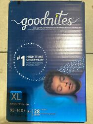 New Goodnites Boys Youth Teen Pull Ups Diapers Xl 140+lbs14 Pack Non Vintage