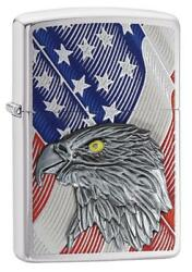 Zippo Windproof Lighter With American Flag & Eagle Emblem, 29508, New In Box