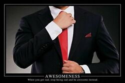 Awesomeness Motivational Poster 36 X 24in