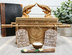 Ark Of The Covenant With Rod Of Aaron And Manna Jewelry Trinket Box Figurine
