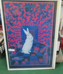 White Rabbit Poster New Rare Vintage Collectible Psychedelic. 3d Ish