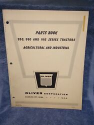Oliver 950 990 995 Series Tractors Agricultural And Industrial Parts Book