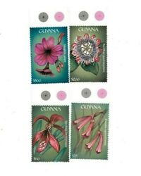 Guyana - 2000 - Flowers Of Central America - Set Of 4 Stamps - Mnh