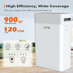 Large Room Air Purifiers H13 True Hepa Filter Home Air Cleaner For Allergies