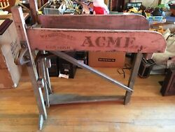Acme  Antique Farm Tool Chaff Cutter Maybe Tobacco Cutter W.r Harrison Co Canton