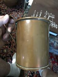 Civil War Large Copper Tin Lined Rolled Edge Drinking Or Cooking Mug Confed?