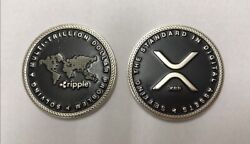 Xrp & Ripple Commemorative Collectible Coin In Protective Pouch