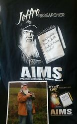 Mountain Monsters Jeffro Aims Research Autographed Shirt Pic Combo S 7 Exclusive