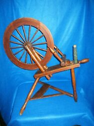 Antique Country Wood Spinning Wheel