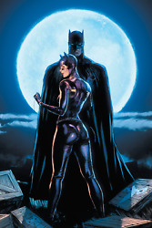 Batman And Catwoman Moon Light Poster 24x36 Inches