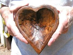 Hand Carved Wooden Heart Shaped Dough Bowl 2280