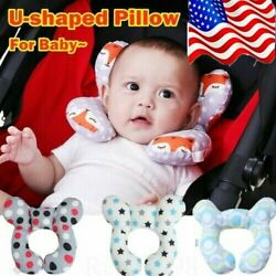 Baby U-shaped Travel Auto Car Seat Stroller Head Neck Support Pillow Cushion Em