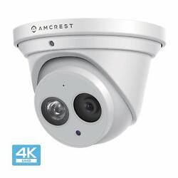 Amcrest Ultrahd 8m 4k Turret Poe Dome Outdoor Security Ip Camera Renewed
