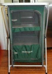 Field And Stream Portable Folding Camping Kitchen Table Storage Prep Center