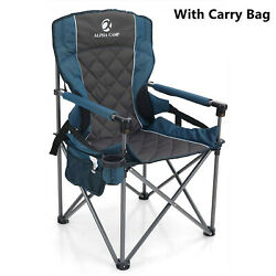 Camping Folding Chairs Heavy Duty Portable Outdoor Armrest Chair Support 450lbs