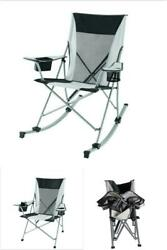 Portable Rocking Chair Outdoor Camping Foldable Seat Cup Holders Convertible New