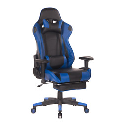 Office Gaming Chair Adjustable Swivel Blue Black Massage Chair Comfortable