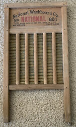 Vintage National Washboard Co The Brass King No.801 Brass Washboard Nice!!!