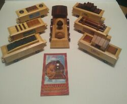 Limited Edition Disney Watch Collectors Series 4 In Train Wooden Boxes Complete