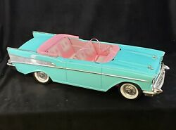 Vintage Barbie 57 Chevy Bel Air Convertible Car Mattel Turquoise & Pink **1988**