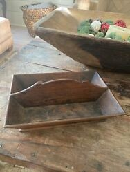 Antique Primitive Pennsylvania Early Americana Table Candle Box