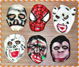Lot Of 6 Halloween Rubber Mask, For Halloween Party, Fancy Dress (m-044)